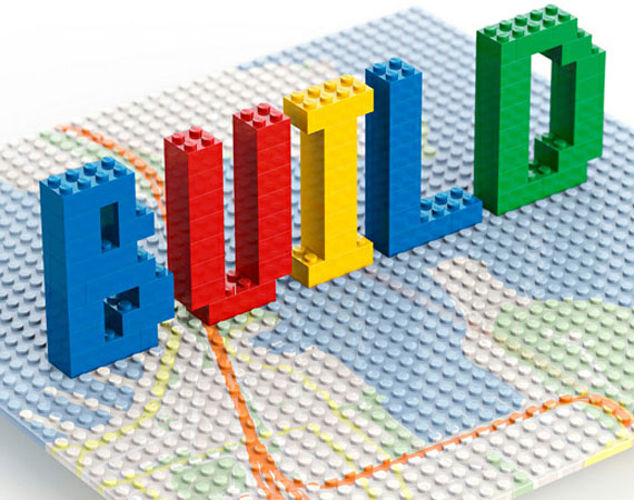 Lego Building in Virtual Chrome - Google