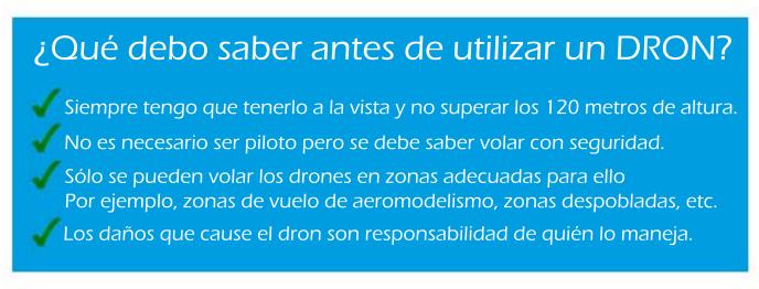 Normativa y legislación del uso de drones