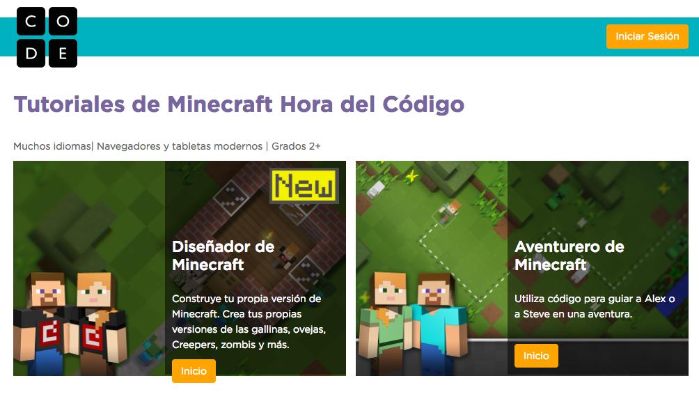 Hora del Código Minecraft
