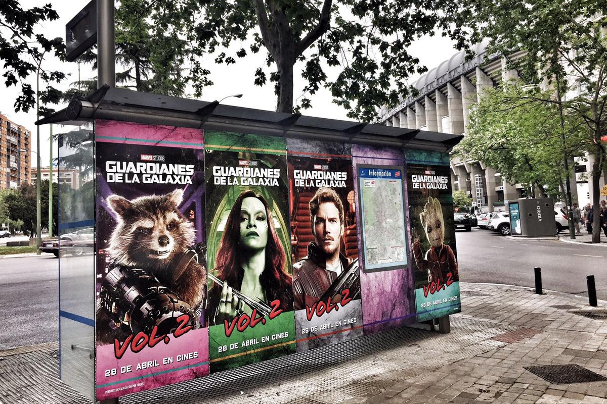 Marquesinas de autobús - Guardianes de la Galaxia