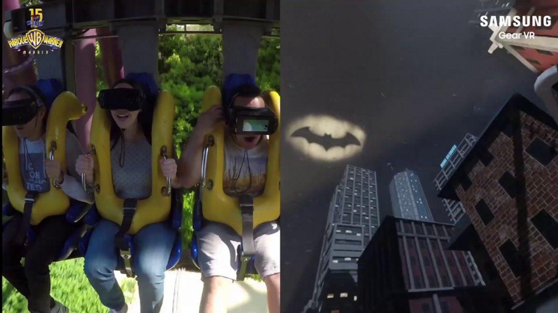 Samsung y Parque Warner crean la primera montaña rusa con realidad virtual
