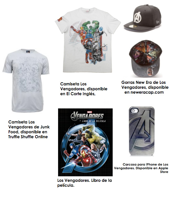 Productos de los vengadores - Disfraces -munecos - camisetas- gorras