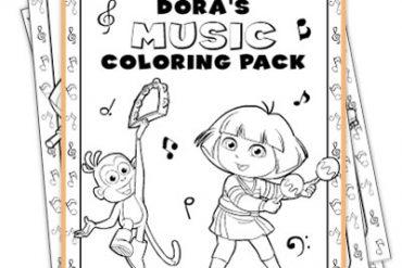 Fichas Dora La Exploradora - Colorear