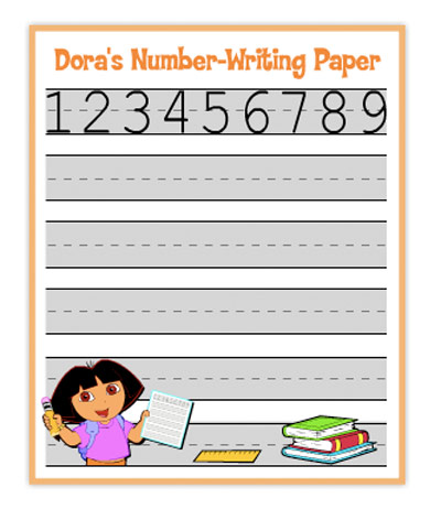 Fichas Dora La Exploradora - Números