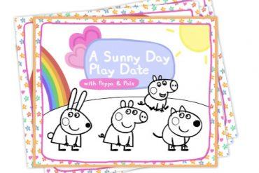 Fichas Peppa Pig Colorear