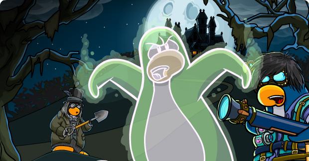 Ya es Halloween en el Club Penguin!