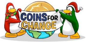 Coins for change - Club Penguin