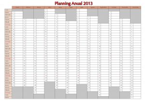 Planning 2013 Español Calendario