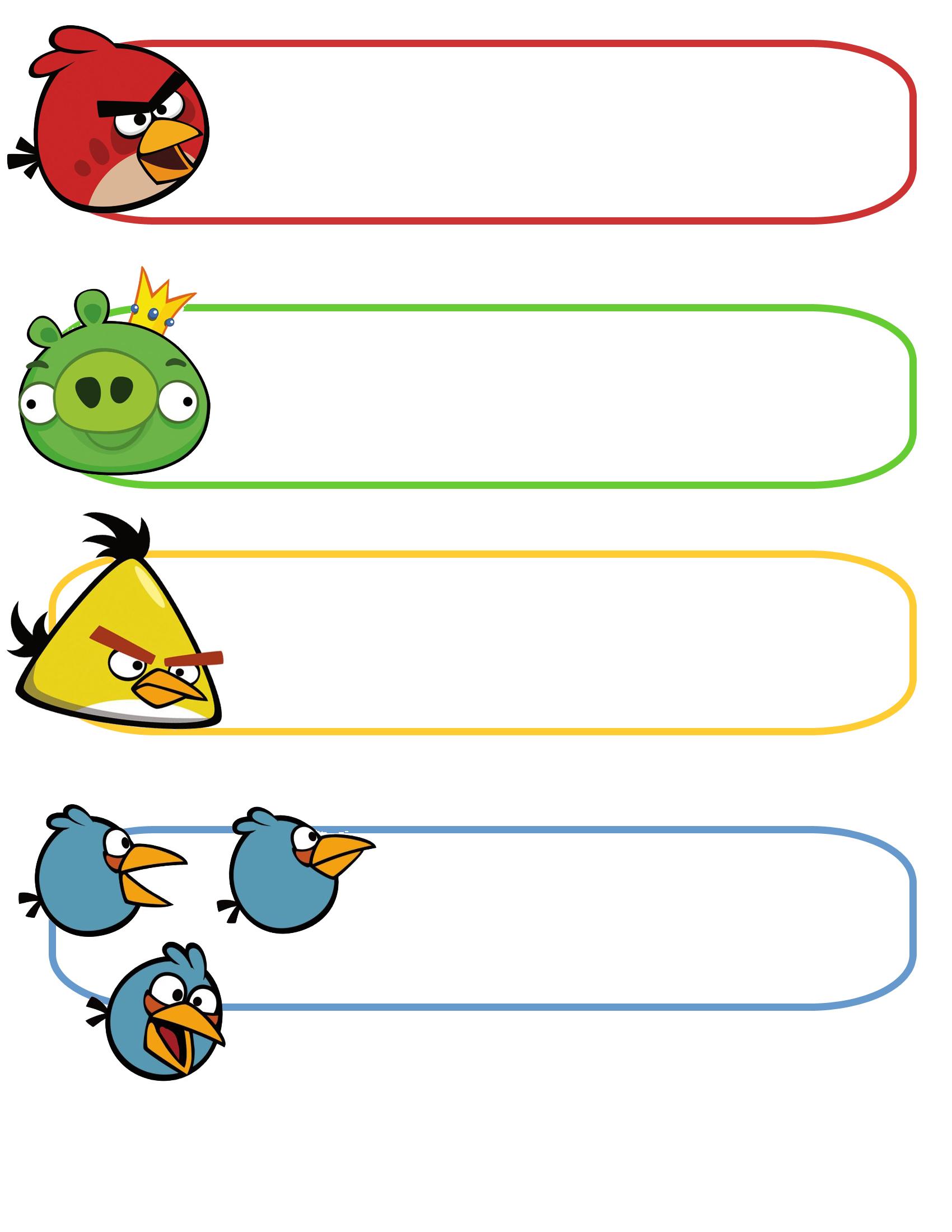 ANGRY BIRDS   Ideas Fiesta Infantil  Plea  Os