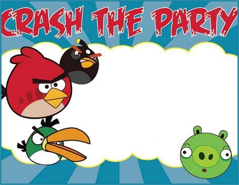 Tarjetas de cumpleaños para imprimir de los Angry Birds - Imagui