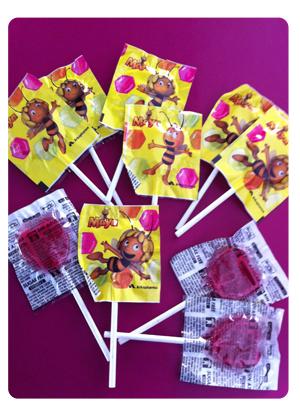 Piruletas Sin azuca Vitamina C Abeja Maya