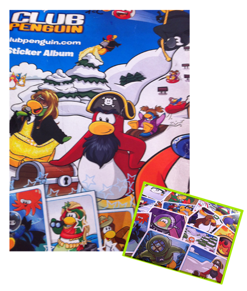 Album de cromos de Club Penguin