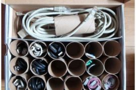 Organizar cables DIY Tutorial Manualidad