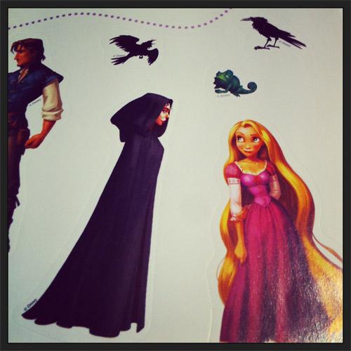 Libros Niños Rapunzel Pegatinas