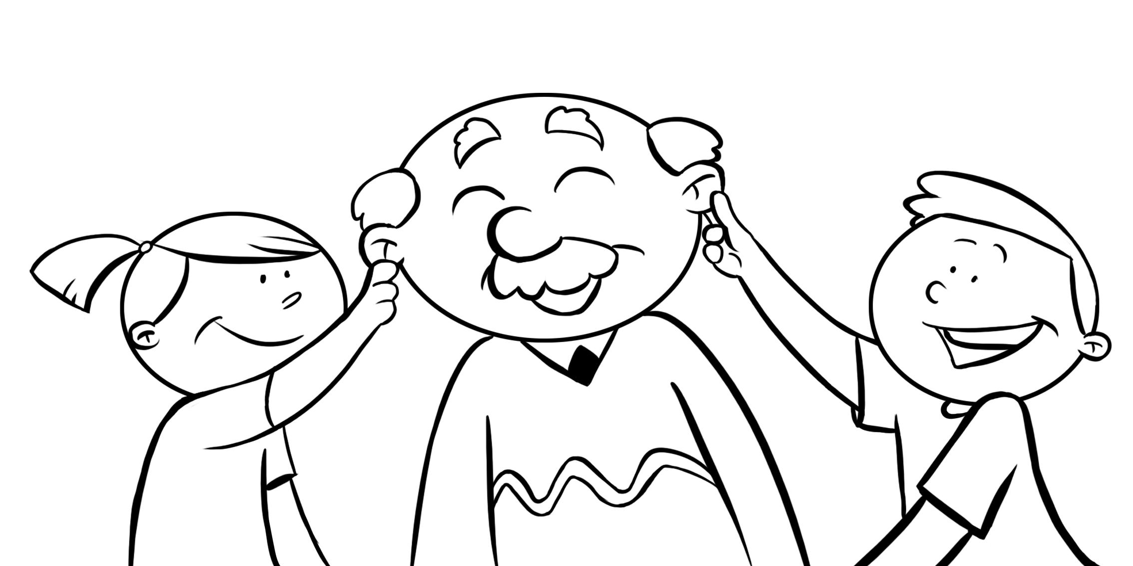 Resultado de imagen de dibujos de abuelos con nietos