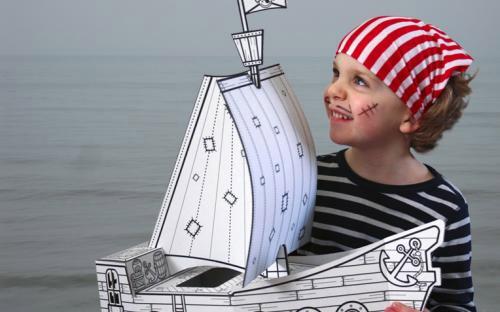 Barco Pirata Manualidad