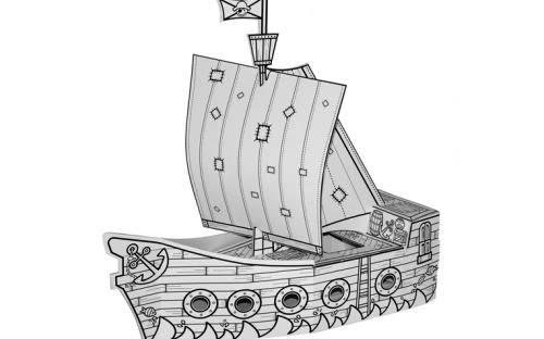 Barco Pirata Manualidad Cartón