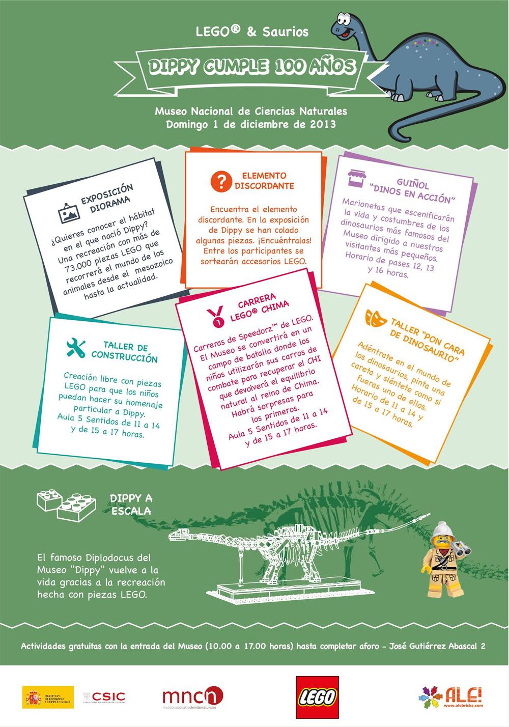 Exposición LEGO Dinosaurios Museo Ciencias Naturales MAdrid