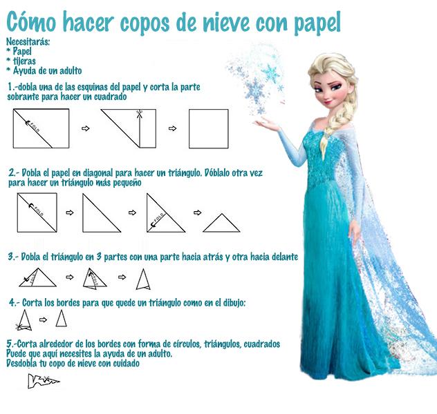Como hacer copos nieve como Elsa FROZEN