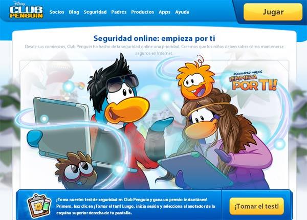 Club Penguin Seguridad en internet niños