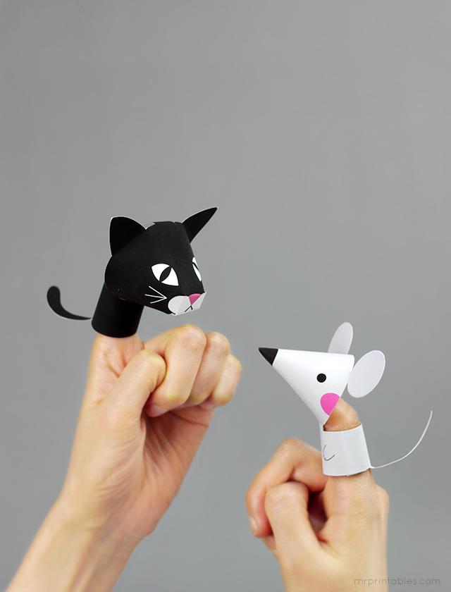 Marionetas Animales Manualidades Niños