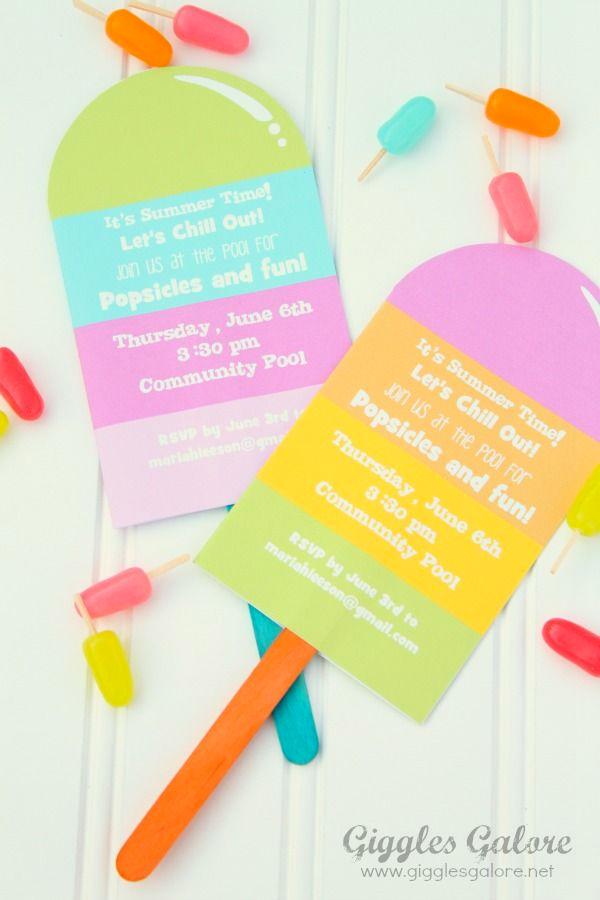 Ideas Invitaciones cumpleaños verano