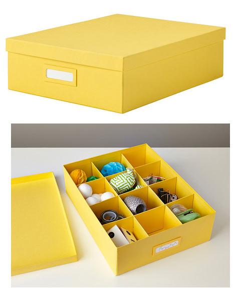 cajas amarillas ikea