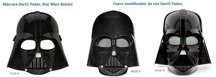 máscara darth vader precio
