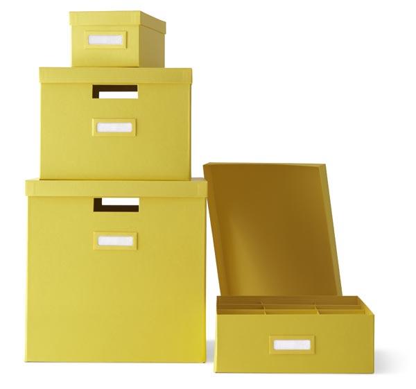 Cajas oficina colores ikea