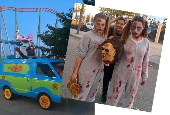 Parque Warner Halloween 2014 Bloggers Alaska  Mario Vaquerizo
