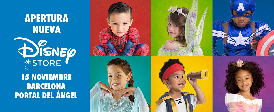Disney Store Barcelona 2014 Fiesta de disfraces inauguracion disney marvel star wars princesas