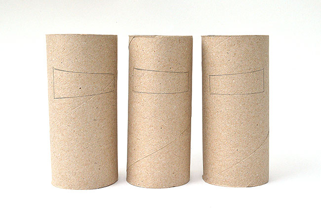 Manualidades rollo papel higienico Ninjas Niños DIY