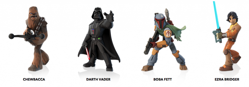 disney infinity star wars figuras