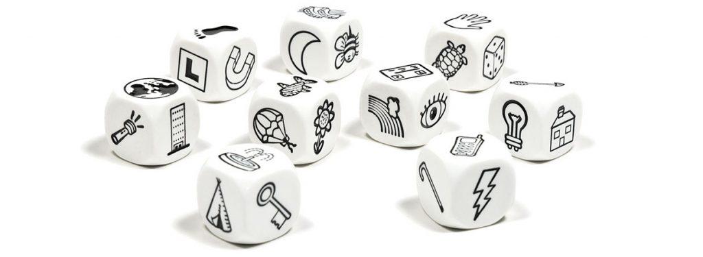 Story cubes Juegos niños y niñas viaje pensar opinion