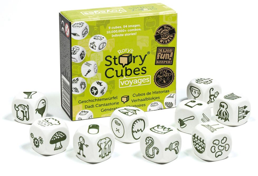 Story cubes Juegos niños y niñas viaje pensar opinion contar historias