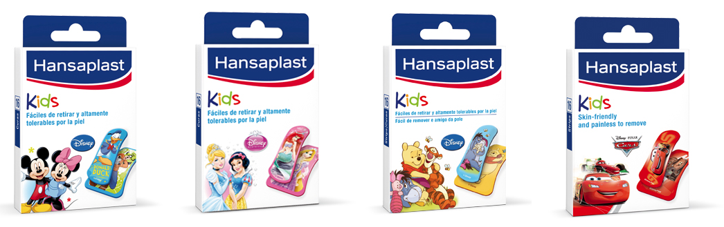 hansaplast tiritas niños dibujos princesas cars mickey disney