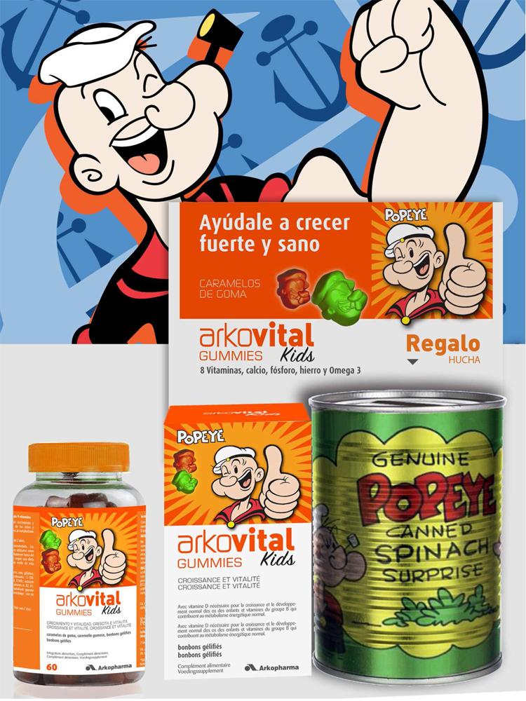Popeye Arkovital Vitaminas niños