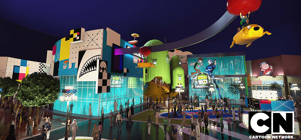 IMG Worlds of adventure Parque temática dubai Cartoon Networks Marvel The Lost Valley Dinosaurs