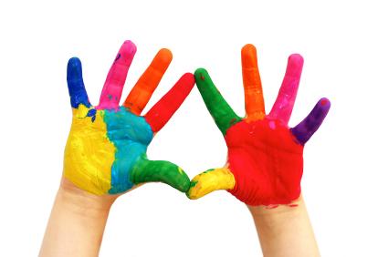 pintura de dedos retiradas