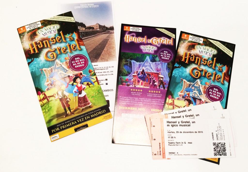 Musical para niños Hansel y Gretel Madrid