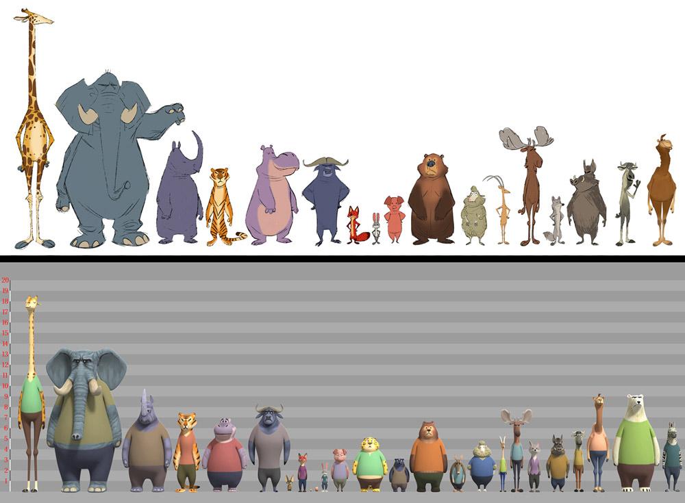 Zootrópolis - altura animales