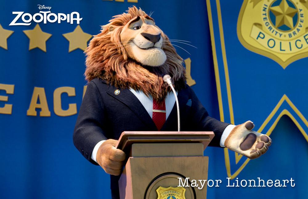 Zootropolis Personajes MAJOR LIONHEART