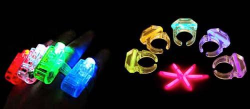 anillos fluorescentes