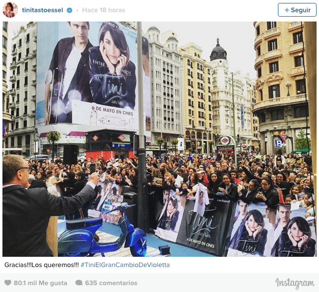 Tini El Gran Cambio de violetta Prestreno Madrid 2016