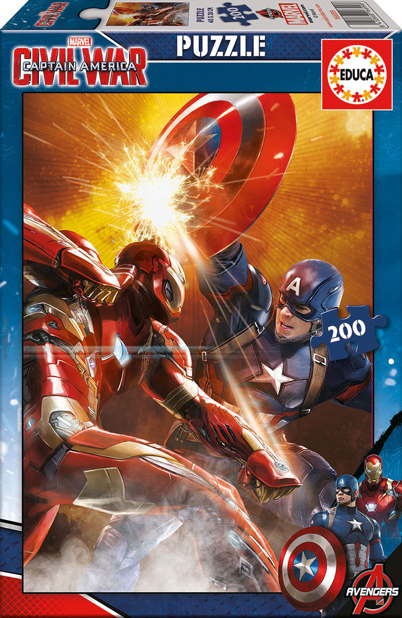 puzzle civil war capitan america sorteo