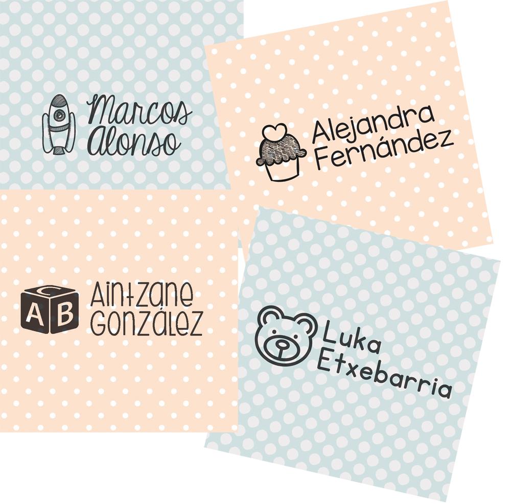 Creativity Love: Sellos para marcar la ropa de los niños