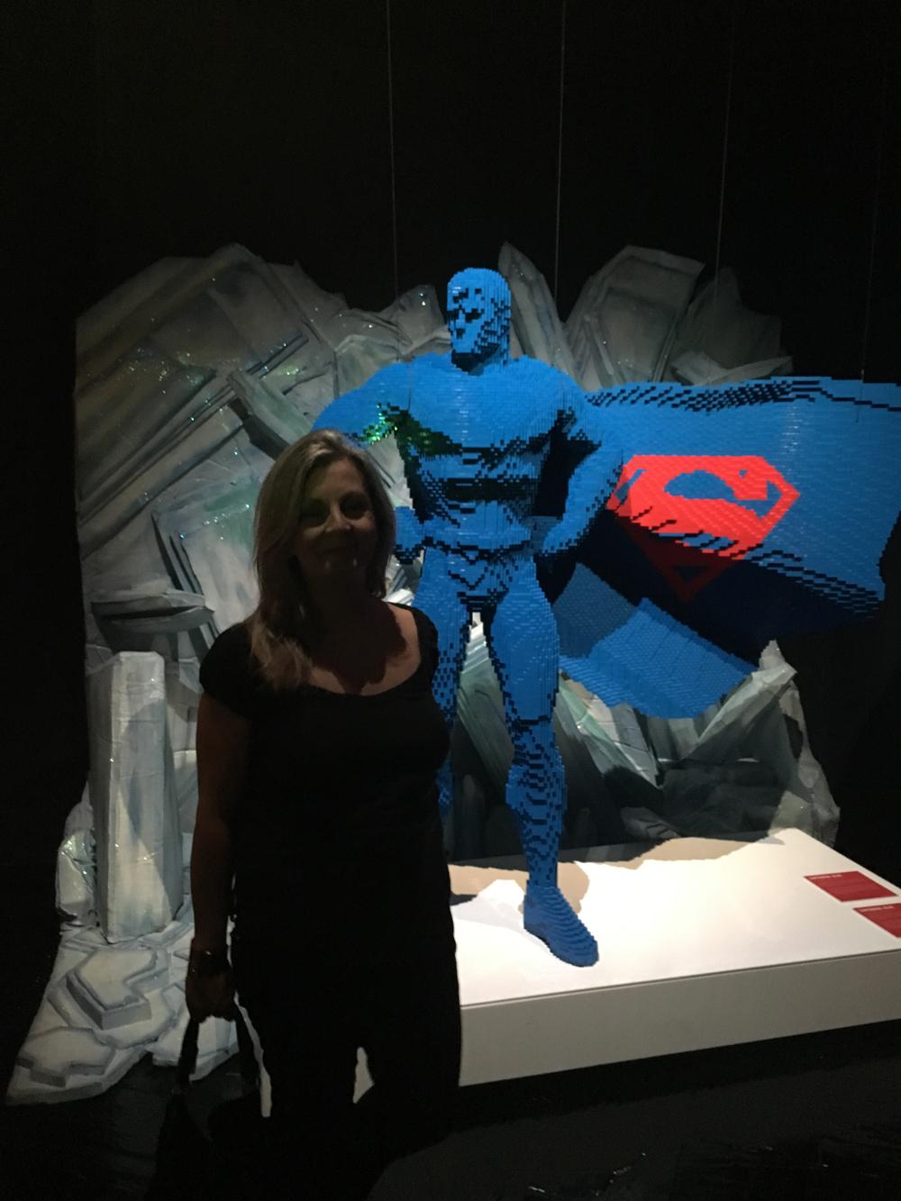Susana García - The Art of Brick: DC Superheroes - Lego - MAdrid -Nathan Sawaya -Colon