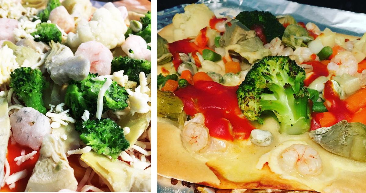 Recetas con verduras congeladas para niños: pizza