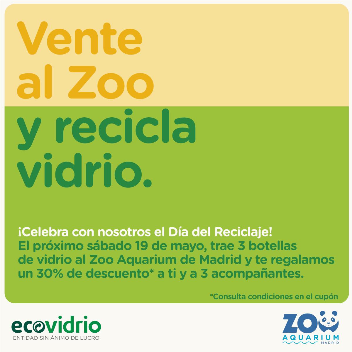 Zoo Madrid - Ecovidirio - Reciclaje -Descuento