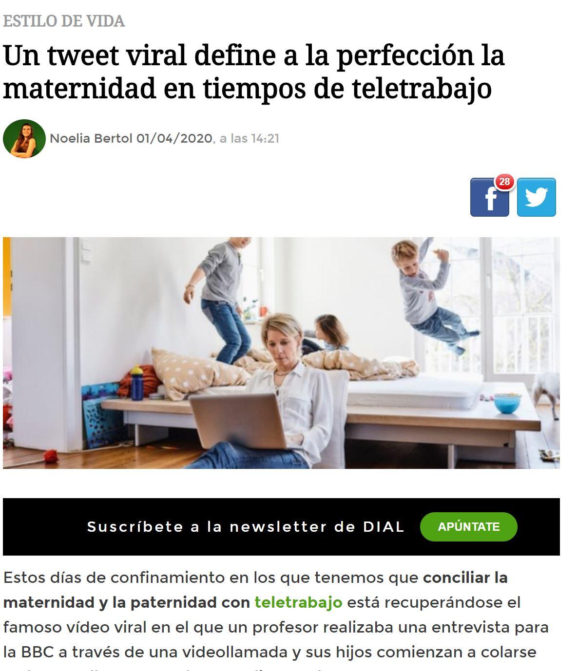 Cartel mamá teletrabajo viral twitter susana garcia beautyblog